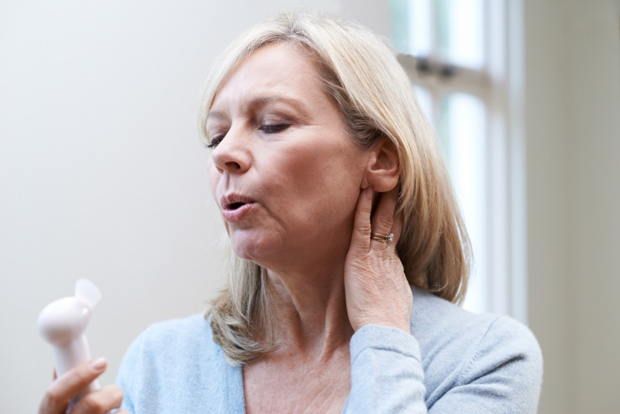 Menopause usually happens between ages 45-55 but can strike earlier