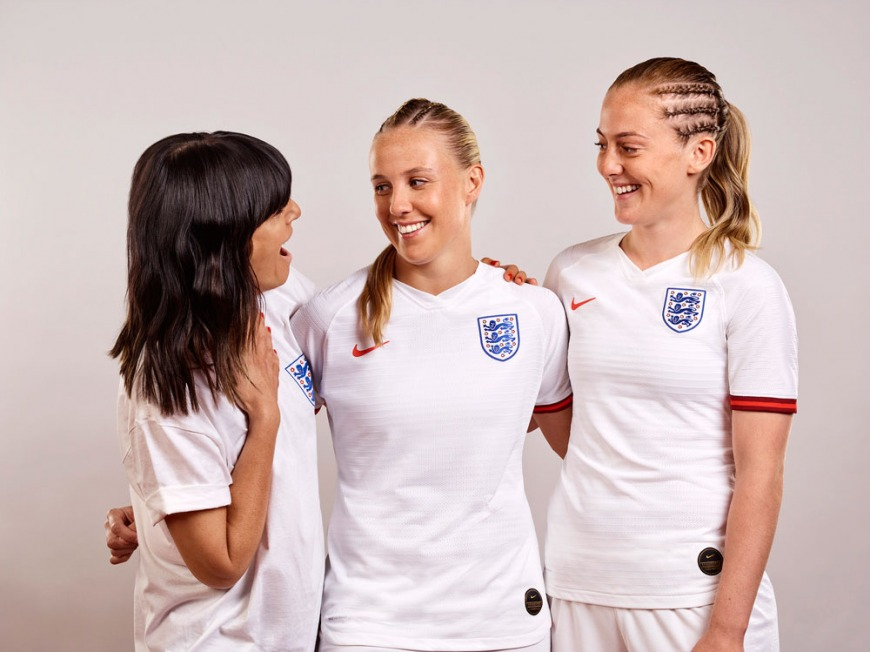 Head & Shoulders ambassador Claudia Winkleman (left) with Beth Mead and Keira Walsh, from England women's World Cup squad