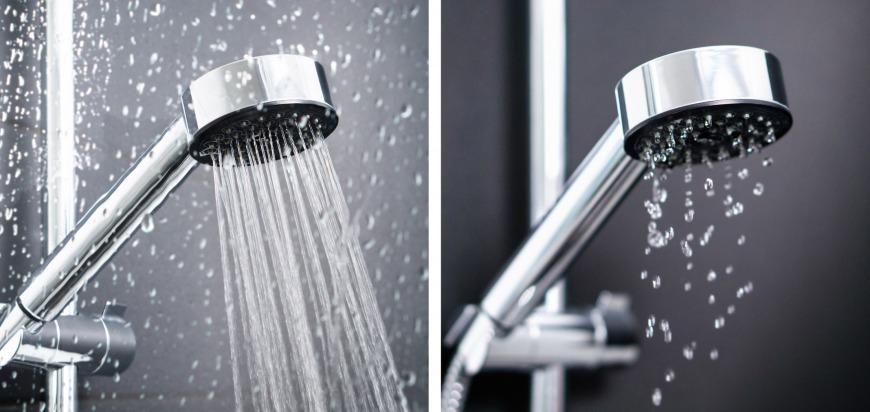 Same shower, different water pressure