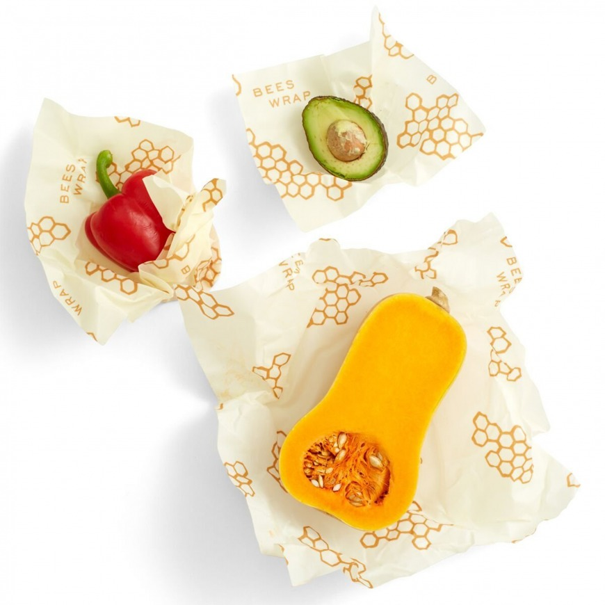 Bee's Wrap Assorted Reusable Food Wraps – Pack of 3
