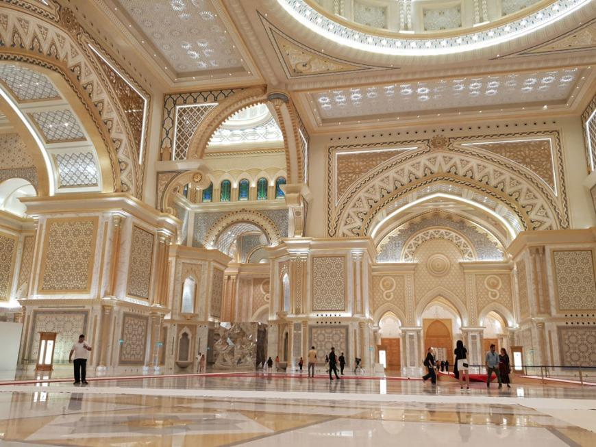 Inside Qasr Al Watan Palace