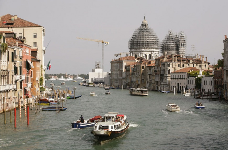 Venice's Grand Canal stretches about 4 km (2.5 miles)