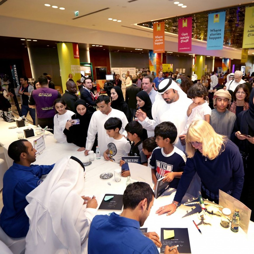 Signing up for the Emirates Airline Festival of Literature