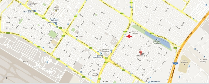 POLO Office Dubai Location Map