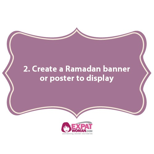 2. Create a Ramadan banner or poster to display