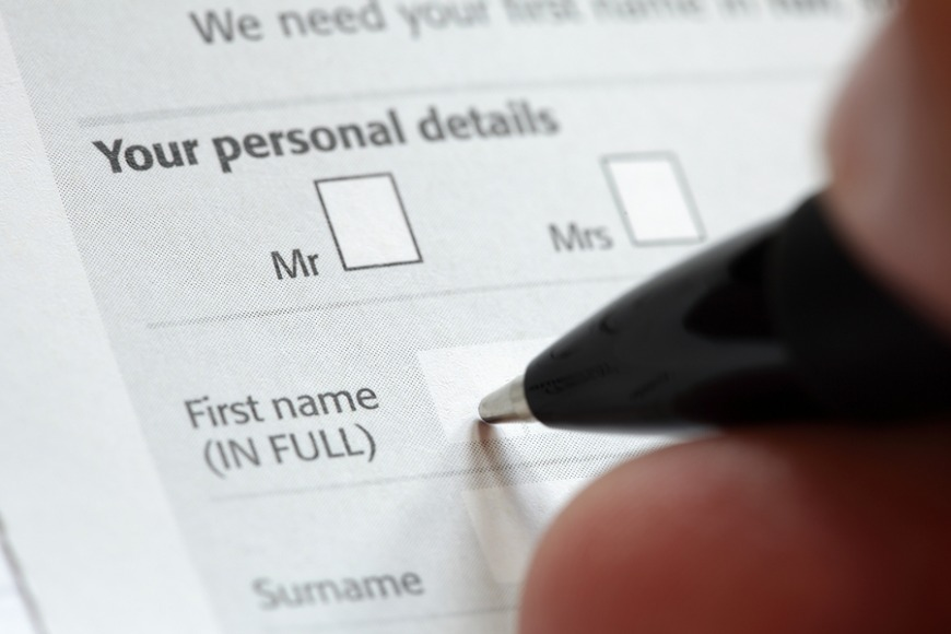 Finally,  you will need to fill out the registration form that you can find at the post office