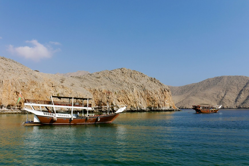 Another great adventure to enjoy is the trip to Oman's Musandam peninsula, which is a small enclave surrounded by UAE land.