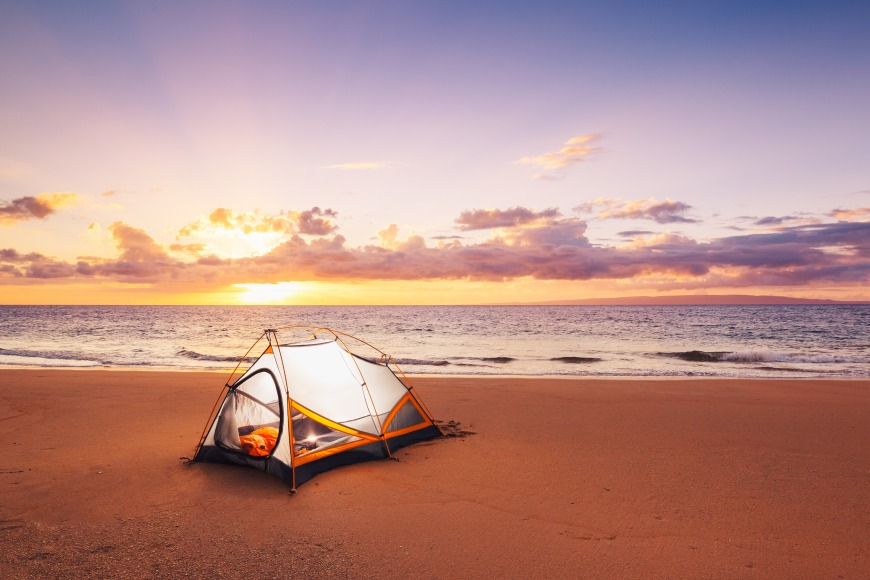 Camping on some of Qatar's beaches is a a popular fun activity.