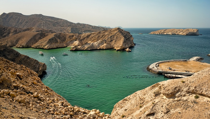Oman has amazing scenery all around, from beaches to mountains.