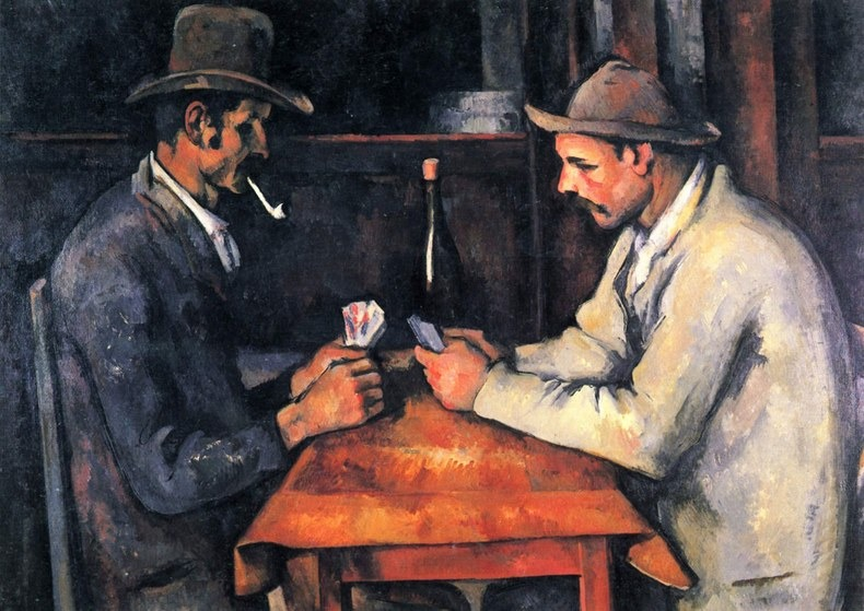 Paul Cézanne's The Card Players painting | Photo: vanityfair.com