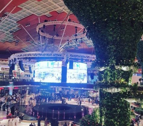 Mall of Qatar 360 stage.    Photo: IG @jrgeneroso