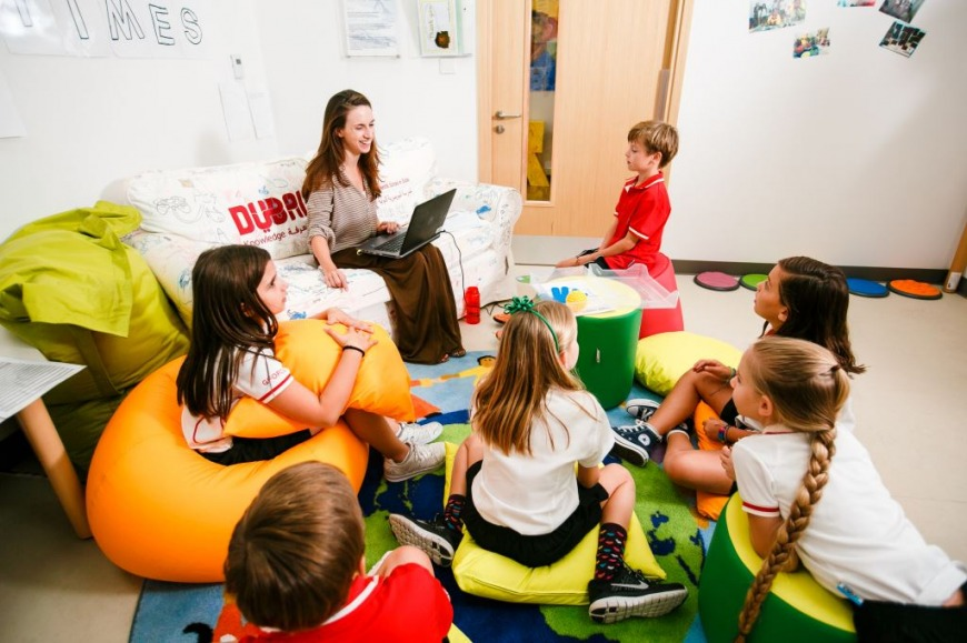 Student-teacher interaction is free flowing and educational