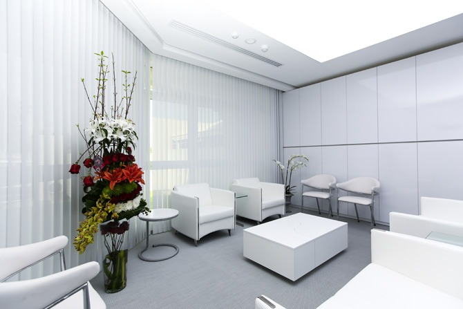 Waiting area at the clinic