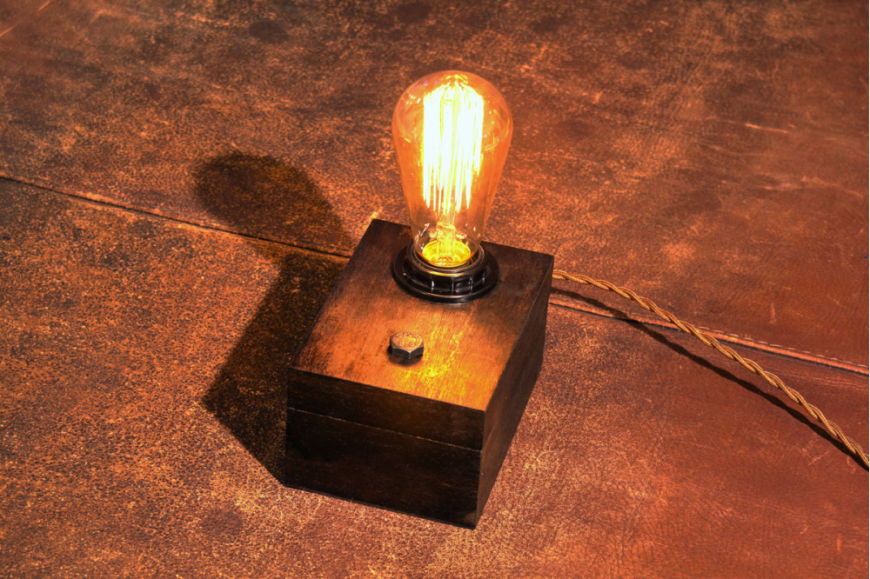 3. The 'Cigar Box' Industrial Desk Lamp from Craft By Two