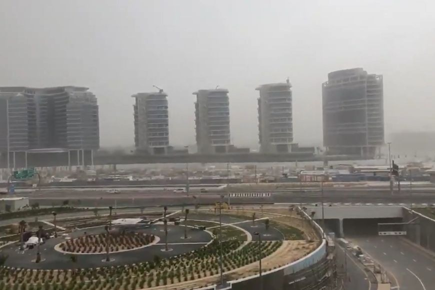 Dubai storm during Eid break 2020