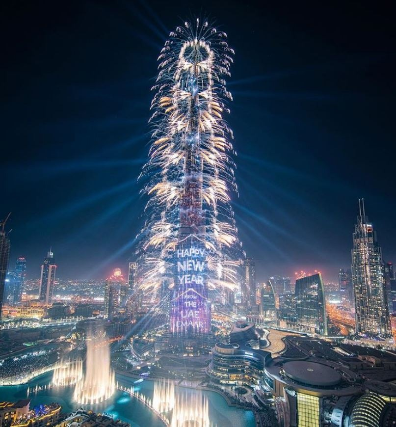Burj Khalifa captured by HH Sheikh Hamdan (@faz3)