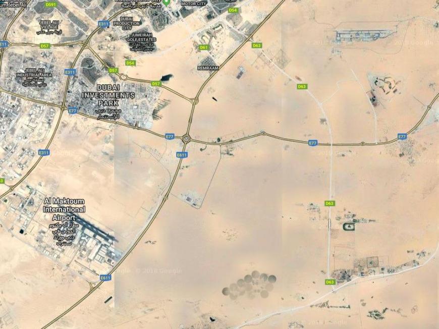 Heart lakes in Dubai Al Qudra Desert