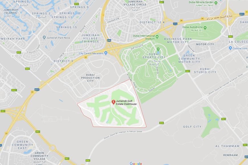 Jumeirah Golf Estates in Dubai