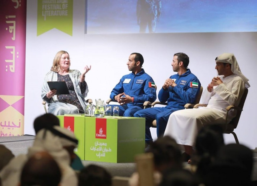First Emirati astronaut at the Emirates Airline Literature Festival