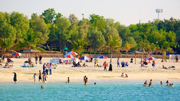 Mamzar Beach Park in Dubai