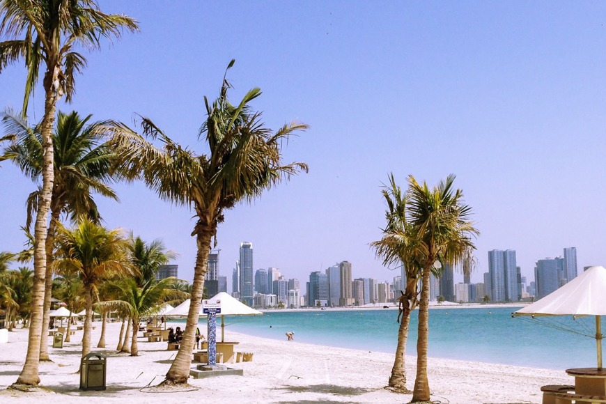 The best beaches in Dubai to visit - Mamzar Beach Park in Dubai