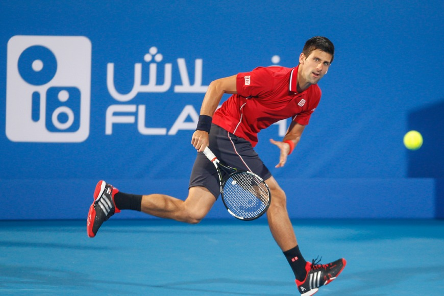 Novak Djokovic at Mubadala World Tennis Championship 2018