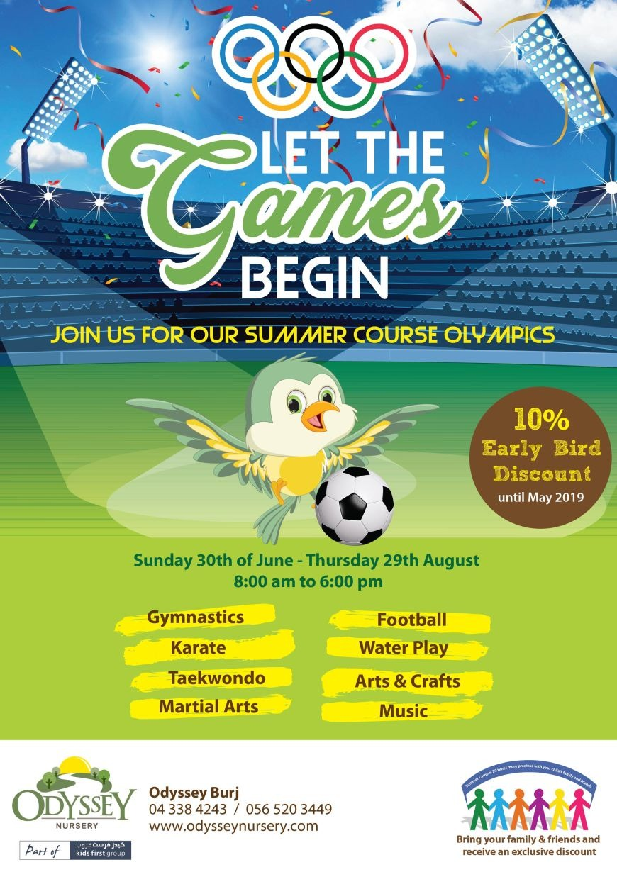Let the games begin summer camp at Odyssey Nursery Umm Al Sheif Branch