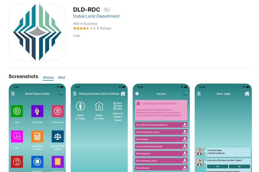 Rental Disputes Centre app in Dubai