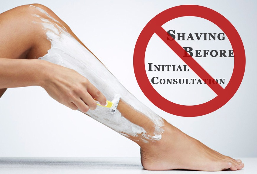 Do not shave before laser hair removal