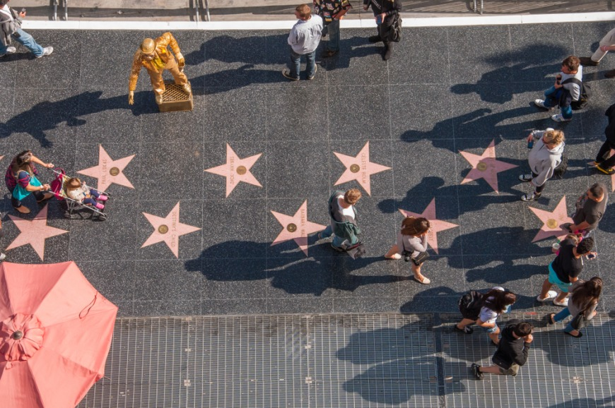The Hollywood Walk of Fame in Hollywood, California