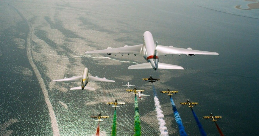 UAE National Day 2018 airline flyby