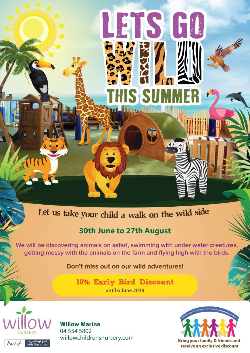 Safari summer camp at Willow Children's Nursery Dubai Marina