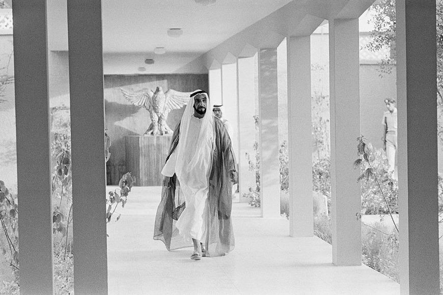 The late Sheikh Zayed