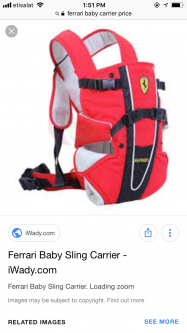 Ferrari baby carrier or sling