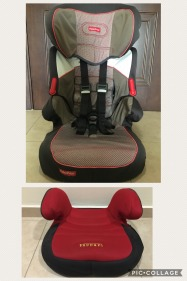 FISHER PRICE TODDLER CAR SEAT AND FERRARI BOOSTER SEAT