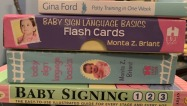 BabBaby sign language books and cards and potty training book