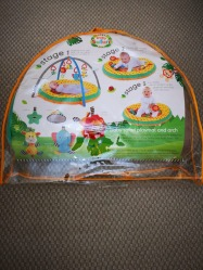 Gently used (like new) Mother care baby safari playmat and arch