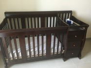 Solid wood crib with Matress