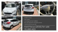 Ford Focus 2016 for sale- excellent condition