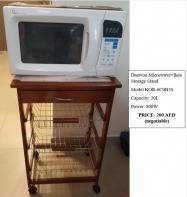Daewoo Microwave with Ikea movable storage stand