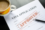 Application for a work permit / visa