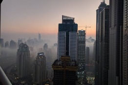 Dubai Residents Wake-up To a Thick Blanket of Fog