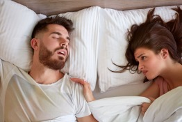 Sleep with a snoring partner