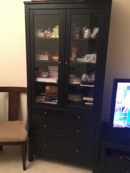 Ikea Glass cabinet with 4 drawers