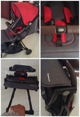 Brand new Stroller with Leather Details