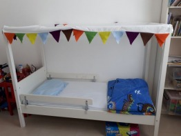 Ikea 4 post toddler bed for sale