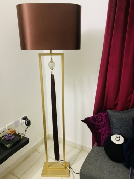 Lamp shade and stand