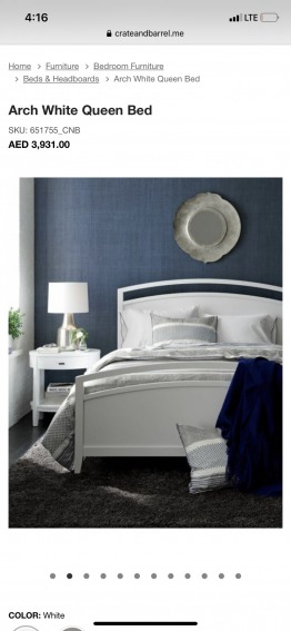 Crate and Barrel Arch Bed and Simmons matress
