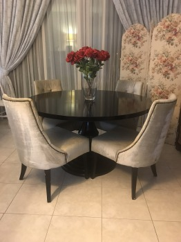 Dining table and chairs from The One