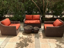 Outdoor sofa set from Rattan House